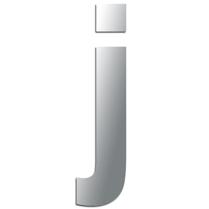 miroir adh sif lettre j minuscule 4 1 cm lettre miroir. Black Bedroom Furniture Sets. Home Design Ideas
