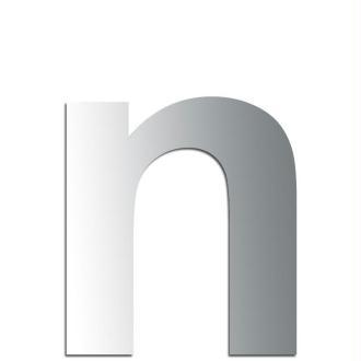 Miroir adhésif lettre N minuscule - 2,4 cm