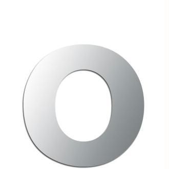Miroir adhésif lettre O minuscule - 2,4 cm