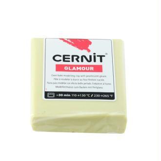 CERNIT  Glamour jaune    pâte polymère   (à modeler)  pain de 56grs