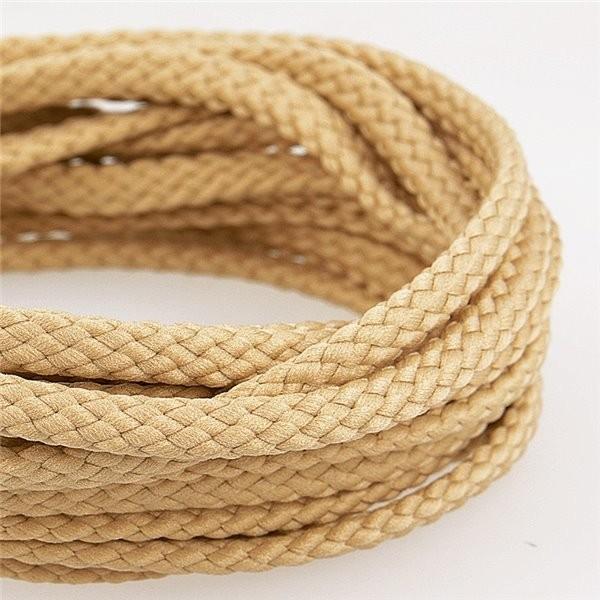 Bobine 50m Cordon damier polyester 6mm taupe - Photo n°1