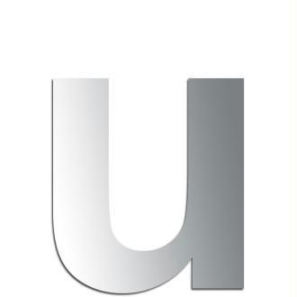 Miroir adhésif lettre U minuscule - 2,4 cm