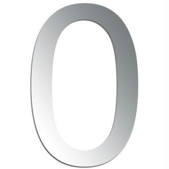 Miroir adhésif chiffre 0 - 3,2 cm