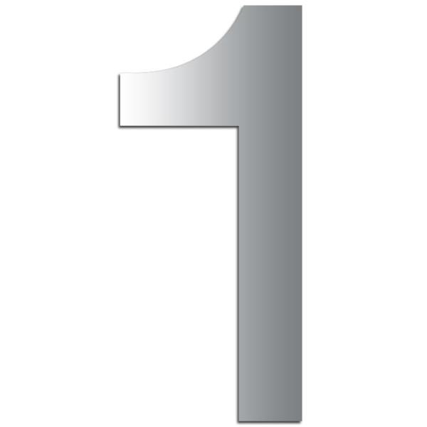 Miroir adhésif chiffre 1 - 3,2 cm - Photo n°1