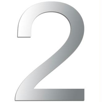 Miroir adhésif chiffre 2 - 3,2 cm