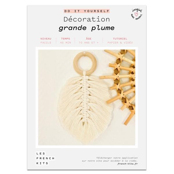 NOUV French Kits DIY Macramé Grande Plume - Photo n°2