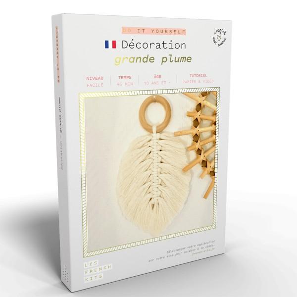 NOUV French Kits DIY Macramé Grande Plume - Photo n°1