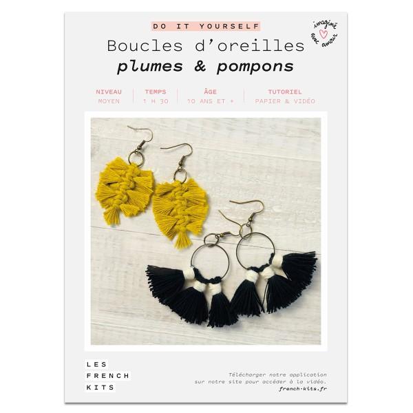 French Kits Macramé - Boucles d'oreilles Plume - 2 paires - Photo n°2