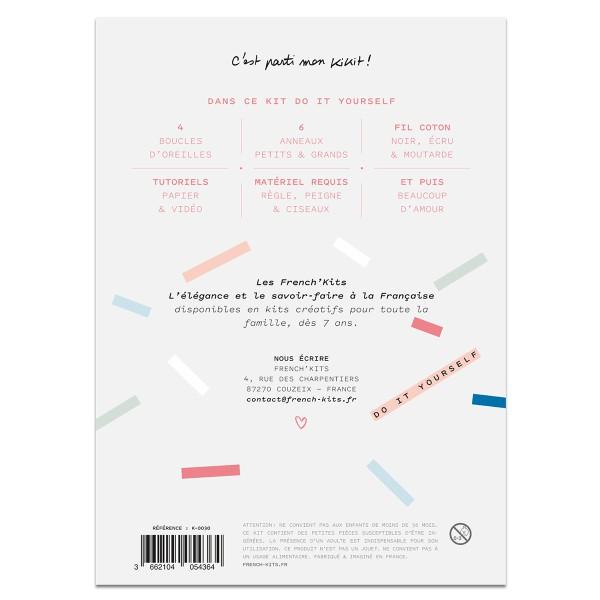 French Kits Macramé - Boucles d'oreilles Plume - 2 paires - Photo n°4