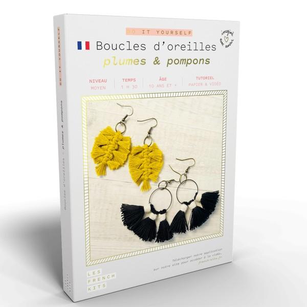 French Kits Macramé - Boucles d'oreilles Plume - 2 paires - Photo n°1