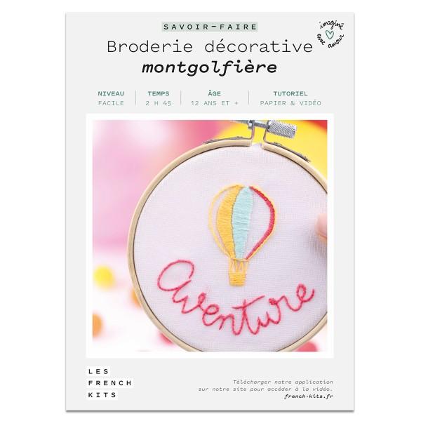 French Kits Broderie décorative - Montgolfière - 10 cm - Photo n°2