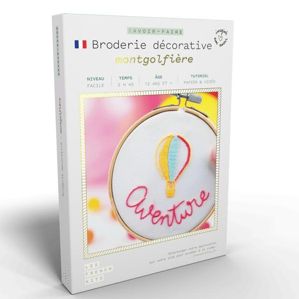 French Kits Broderie décorative - Montgolfière - 10 cm - Photo n°1