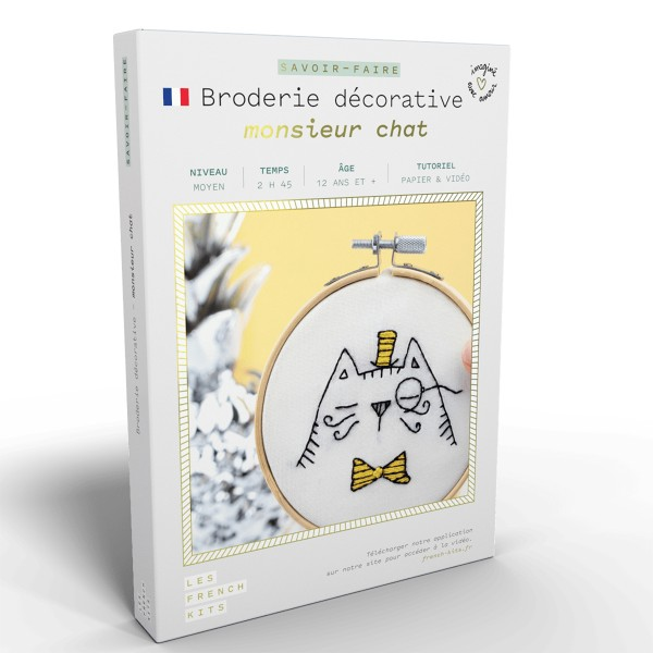 NOUV French Kits Broderie décorative Monsieur Chat - Photo n°1