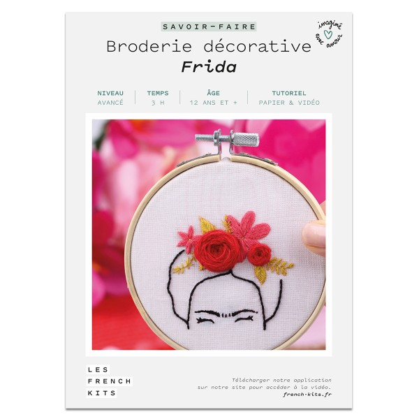 French Kits Broderie décorative - Frida - 10 cm - Photo n°2