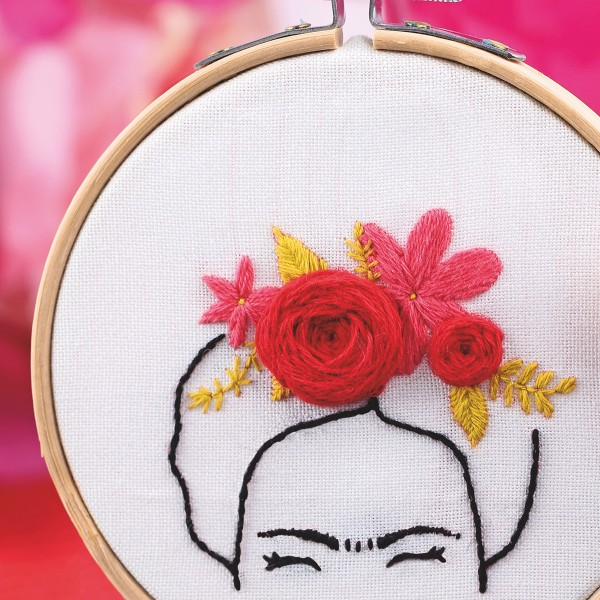 French Kits Broderie décorative - Frida - 10 cm - Photo n°3