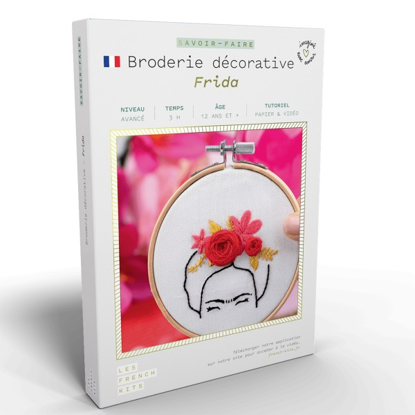 French Kits Broderie décorative - Frida - 10 cm - Photo n°1