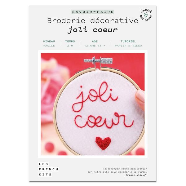 NOUV French Kits Broderie décorative Joli C?ur - Photo n°2