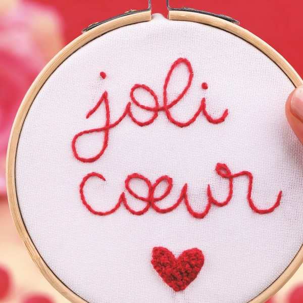 NOUV French Kits Broderie décorative Joli C?ur - Photo n°3
