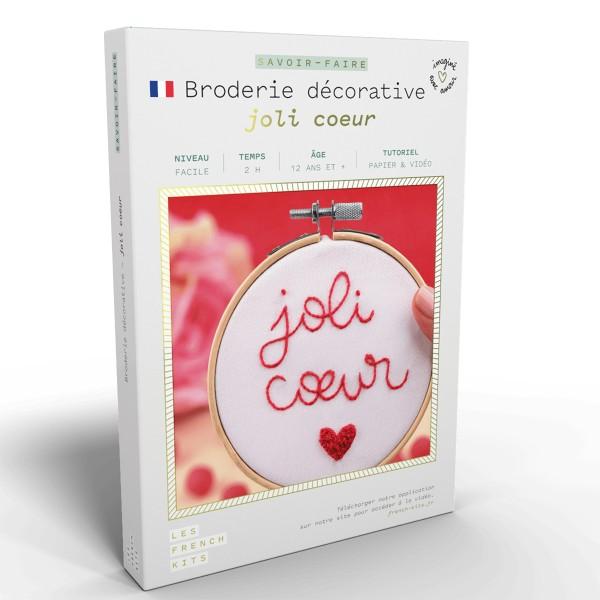 NOUV French Kits Broderie décorative Joli C?ur - Photo n°1
