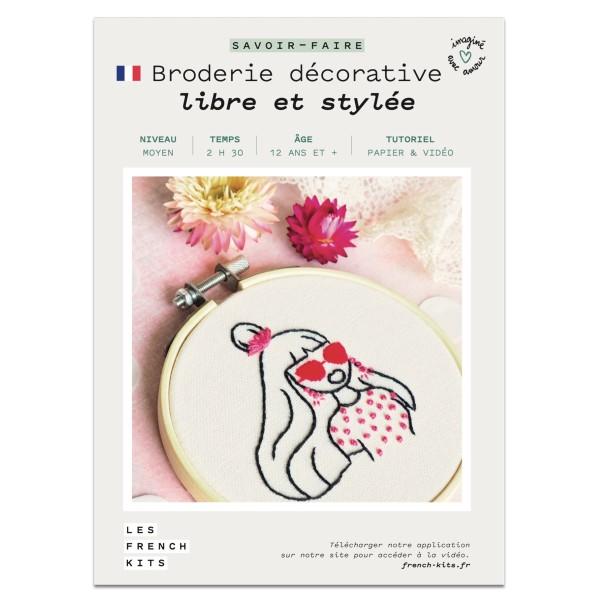 NOUV French Kits Broderie décorative Femme Libre - Photo n°2