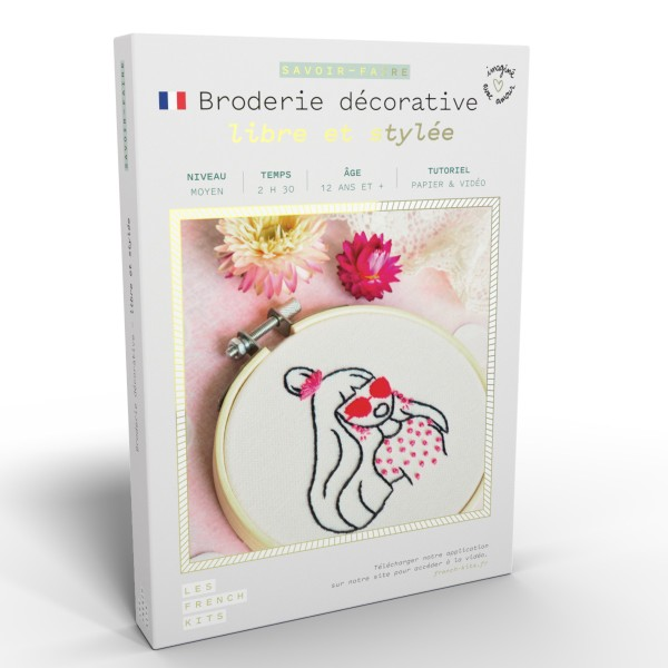 NOUV French Kits Broderie décorative Femme Libre - Photo n°1