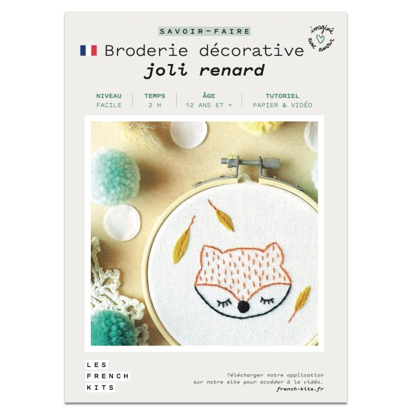 French Kits Broderie décorative - Renard - 10 cm - Photo n°2