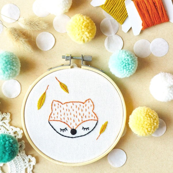 French Kits Broderie décorative - Renard - 10 cm - Photo n°3