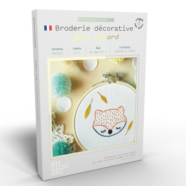 French Kits Broderie décorative - Renard - 10 cm - Photo n°1