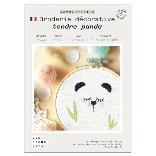 NOUV French Kits Broderie décorative Panda - Photo n°2