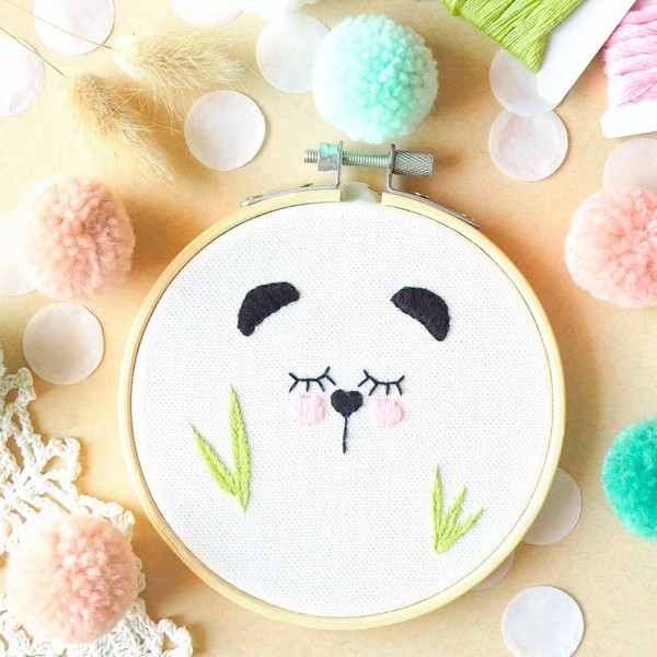 NOUV French Kits Broderie décorative Panda - Photo n°3