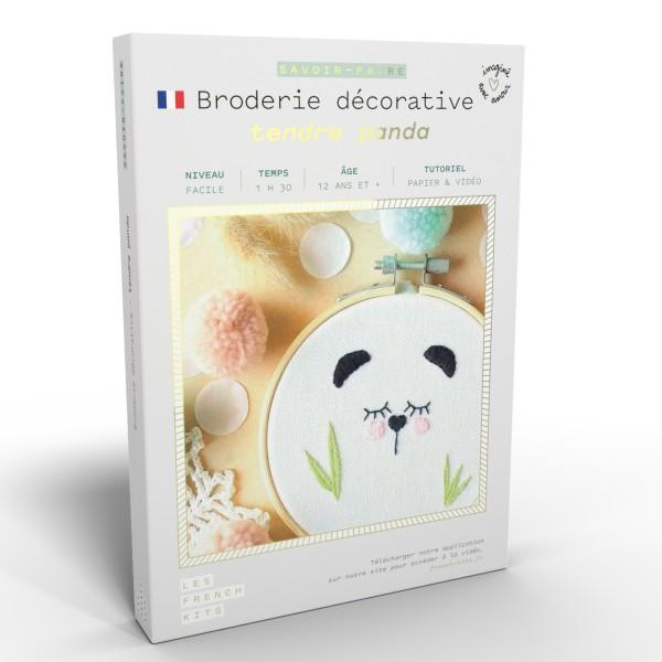NOUV French Kits Broderie décorative Panda - Photo n°1