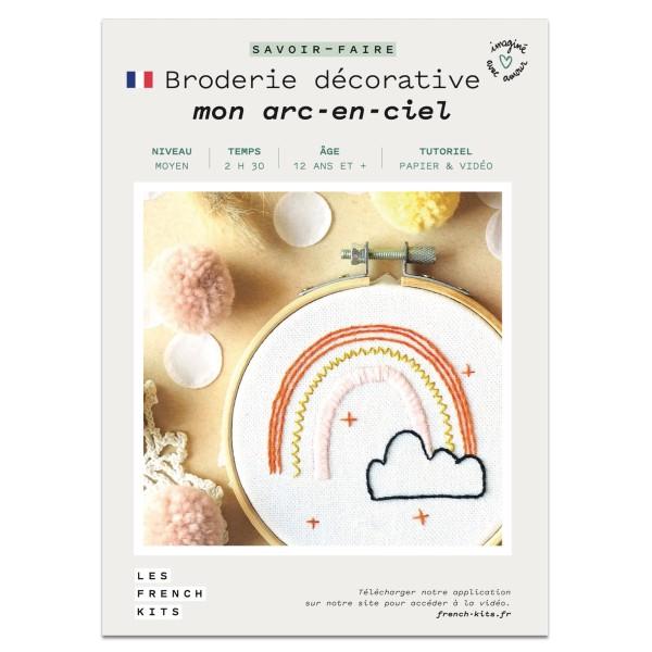 NOUV French Kits Broderie décorative Arc en ciel - Photo n°2