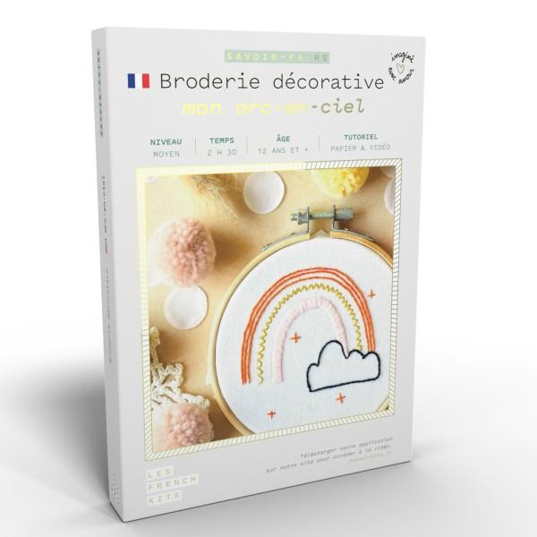 NOUV French Kits Broderie décorative Arc en ciel - Photo n°1
