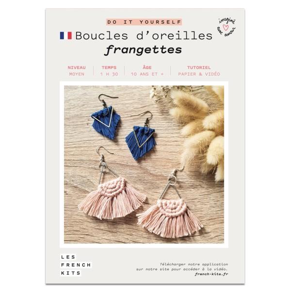 French Kits Macramé - Boucles d'oreilles Frange - - Photo n°2