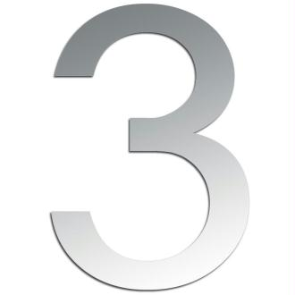 Miroir adhésif chiffre 3 - 3,2 cm