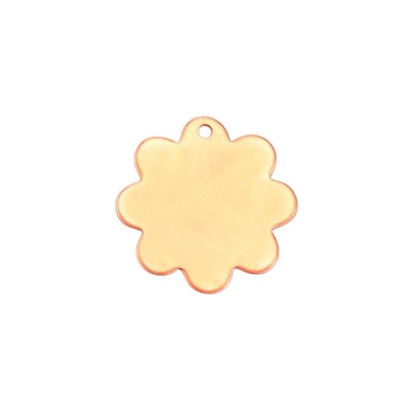 Lot de 10 Pendentifs en cuivre, Fleur, 1 trou, ébauche 2,5 cm, émaillage à froid - Photo n°1