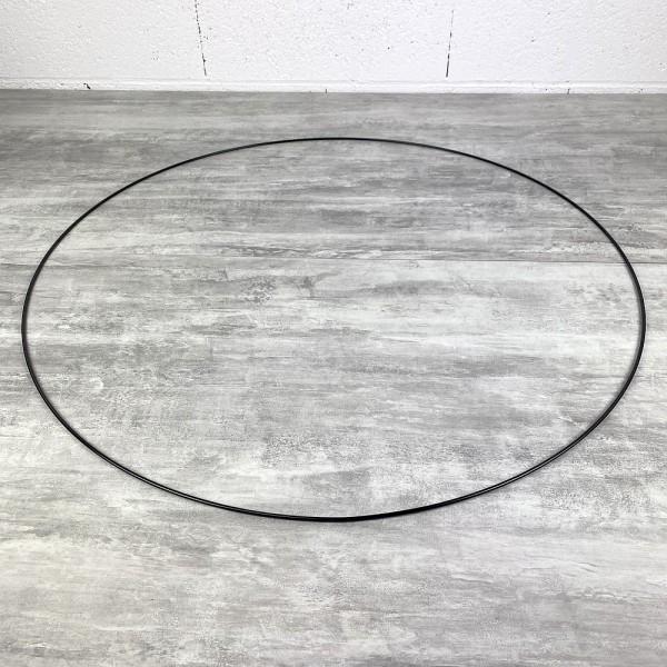 Grand Cercle XXL métallique noir, diam. 80 cm pour abat-jour, Anneau epoxy Attrape rêves - Photo n°2
