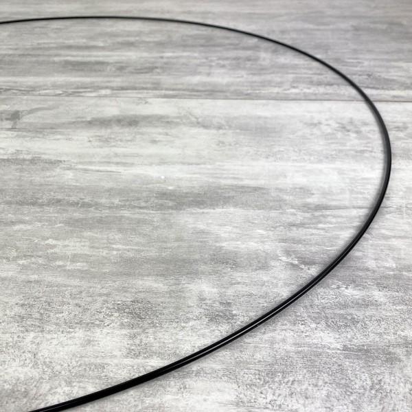 Grand Cercle XXL métallique noir, diam. 80 cm pour abat-jour, Anneau epoxy Attrape rêves - Photo n°3