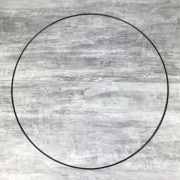 Grand Cercle XXL métallique noir, diam. 80 cm pour abat-jour, Anneau epoxy Attrape rêves - Photo n°1