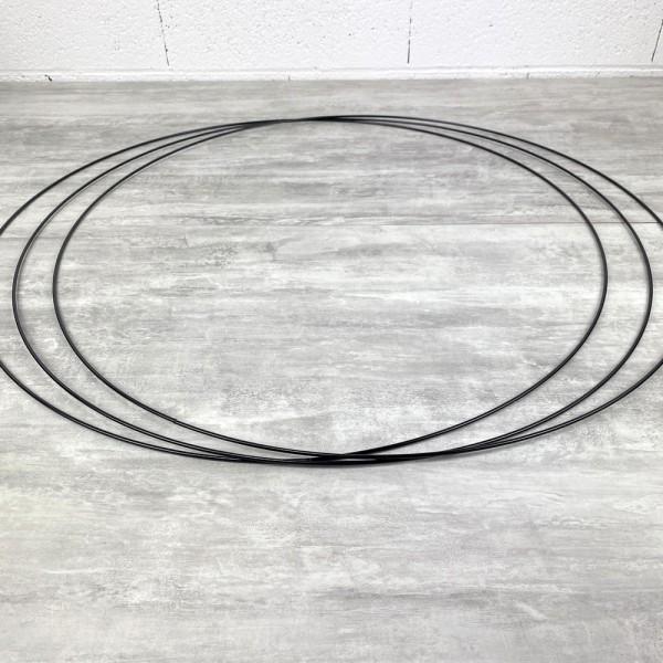 Gros lot de 3 Grands Cercles métalliques noir, diam. 80 cm pour abat-jour, Anneaux epoxy Attrape rêv - Photo n°2