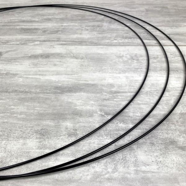 Gros lot de 3 Grands Cercles métalliques noir, diam. 80 cm pour abat-jour, Anneaux epoxy Attrape rêv - Photo n°3