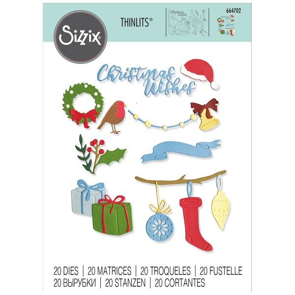 Matrice Sizzix Thinlits - Décorations de Noël - 20 pcs - Photo n°1