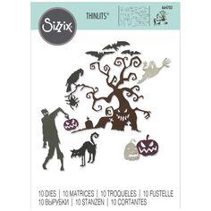 Matrice Sizzix Thinlits - Halloween - 10 pcs