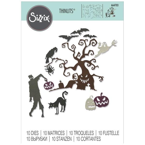 Matrice Sizzix Thinlits - Halloween - 10 pcs - Photo n°1