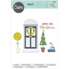 Matrice Sizzix Thinlits - Maison de Noël - 15 pcs