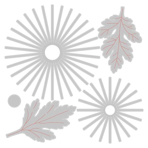 Matrice Sizzix Thinlits - Chrysanthème - 5 pcs - Photo n°3