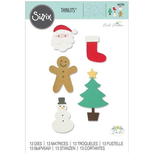 Matrice Sizzix Thinlits - Motifs de Noël Basiques - 13 pcs - Photo n°1