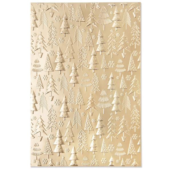 Plaque d'embossage Sizzix 3D - Sapins de Noël - 15,8 x 10,8 cm - Photo n°2