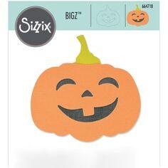 Matrice Sizzix Bigz - Citrouille d'Halloween - 10,1 x 9,9 cm