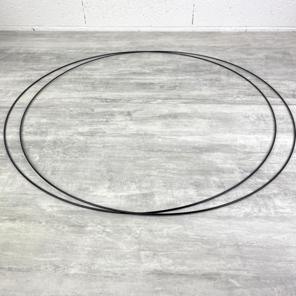 Lot de 2 Grands Cercles métalliques noir, diam. 80 cm pour abat-jour, Anneaux epoxy Attrape rêves - Photo n°2